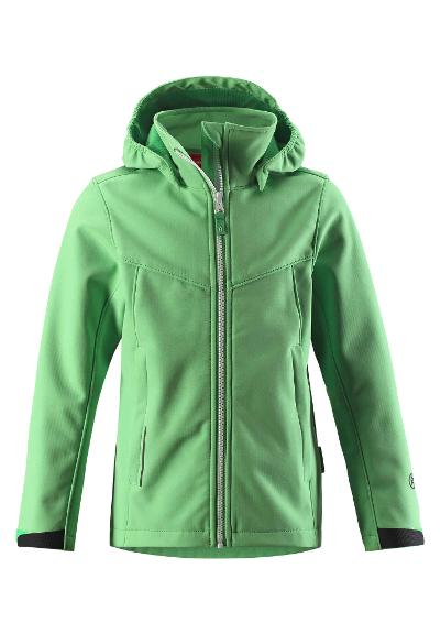 Barn softshell jacka Syd Light green