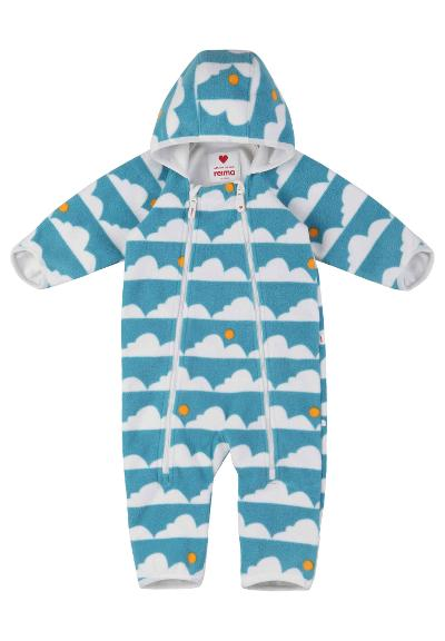 Baby vindfleeceoverall Tilhi Soft turquoise