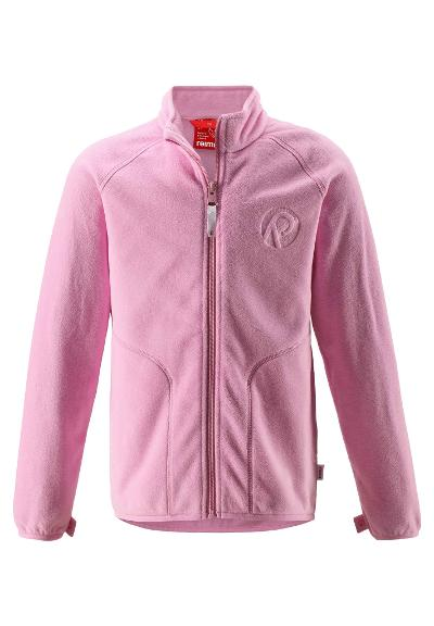 Kids' fleece sweater Leaves Candy pink