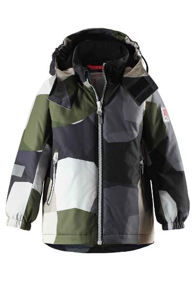 Kids' winter jacket Maunu Khaki green