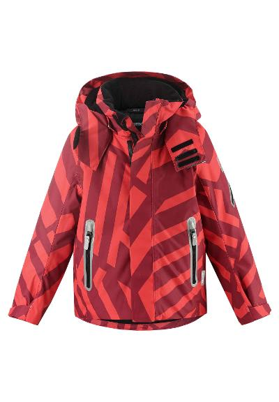 Kinder Skijacke Regor Lingonberry red