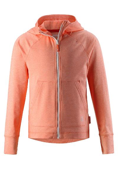 Juniors' hooded sweatshirt Ruori Coral Pink