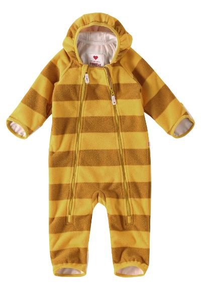 Babies' windfleece overall Tilhi Yellow
