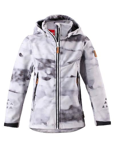 Barn softshell jacka Mingan White