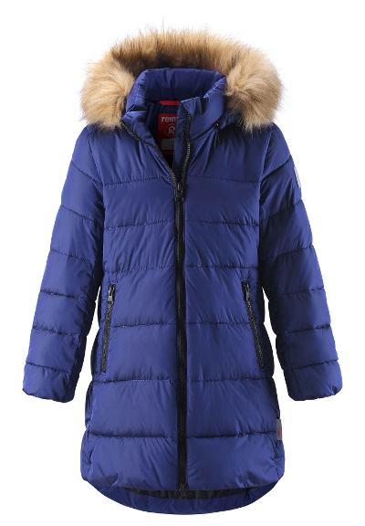 Juniors' long winter jacket Lunta Violet