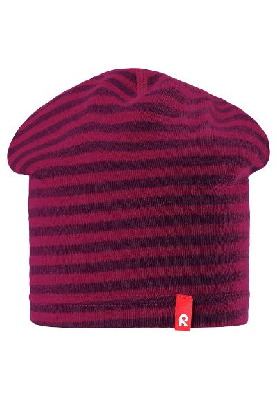 Kids' lightweight wool beanie Dimma Dark berry