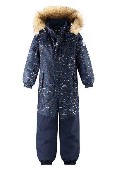 Kids' reflective winter snowsuit Bergen Navy