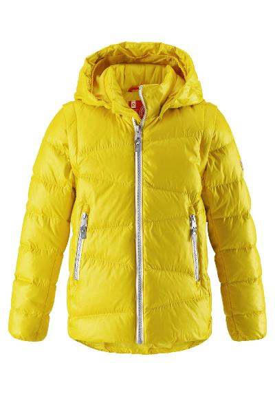 Juniors' 2in1 down jacket Martti Yellow