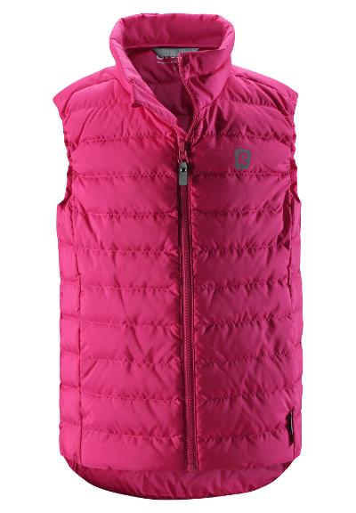 Juniors' lightweight down vest Fauna Raspberry pink