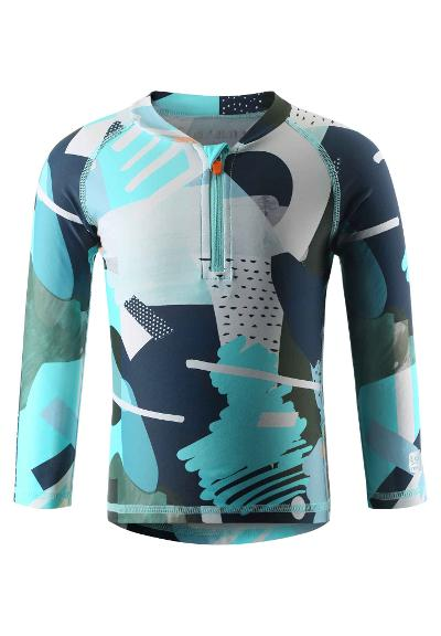Kleinkinder UV-Shirt langarm Tuvalu Light turquoise