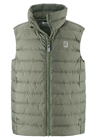 Kids' down vest Fauna Greyish green