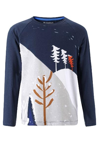 Kids' long-sleeve T-shirt Teeri Navy