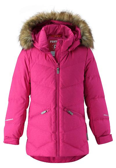 Juniors' down jacket Ennus Raspberry pink