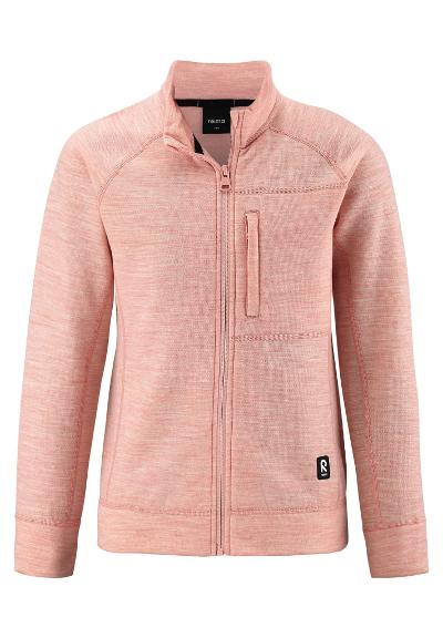 Kids' wool sweat jacket Mist Powder pink