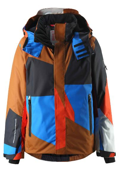 Kids' ski jacket Wheeler Cinnamon brown