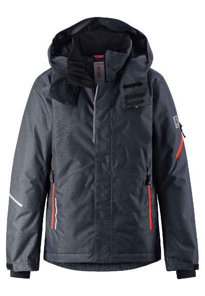 Kids' ski jacket Laks Soft black