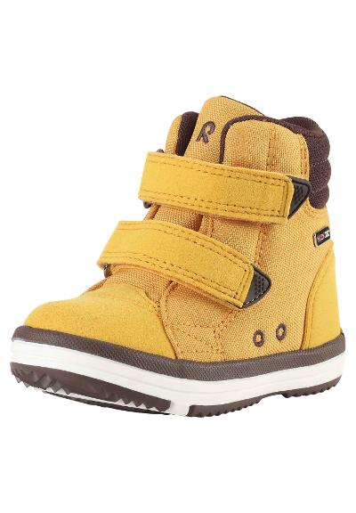 Kids' spring high-top trainers Patter Wash Ochre yellow