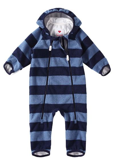 Baby vindfleeceoverall Tilhi Soft Blue