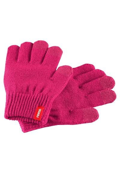Kinder Touchscreen Handschuhe Rimo Cranberry pink