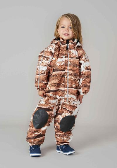 Reimatec toddlers' winter overall Nuvvus Burnt brown