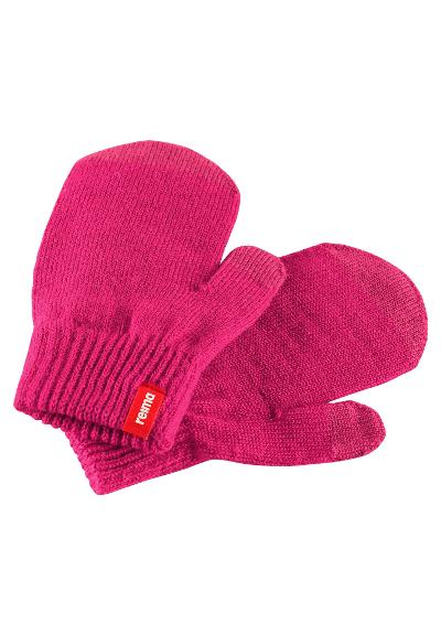 Kids' touchscreen mittens Renn Cranberry pink