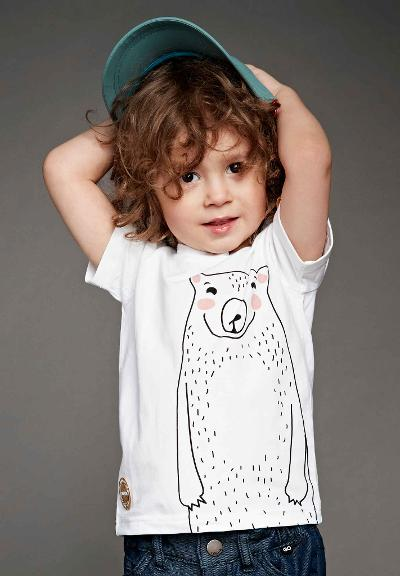 Kinder T-Shirt Sjov White