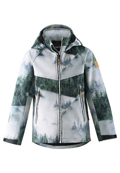 Kids' softshell jacket Vild Greyish green