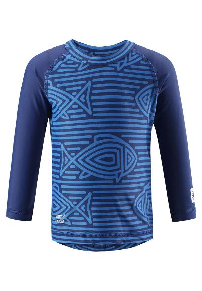 Kids' swim shirt Borneo Blue
