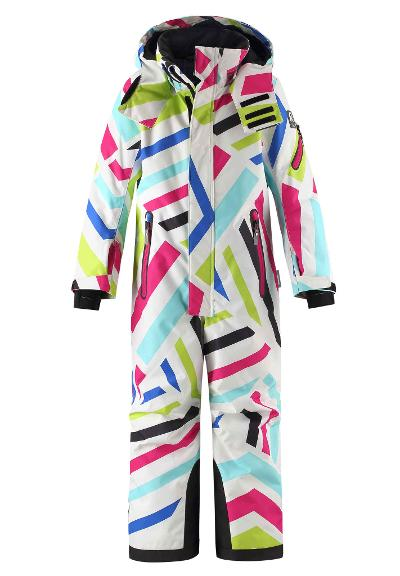 Kids' ski snowsuit Reach White