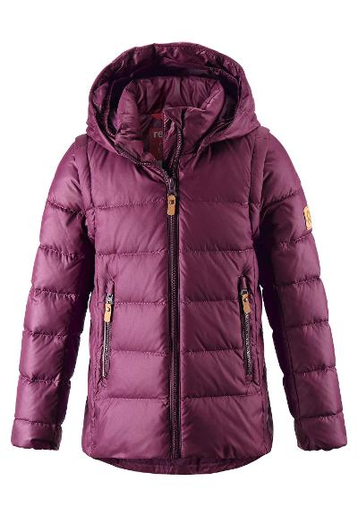 Kids' 2-in-1 down jacket Minna Deep purple