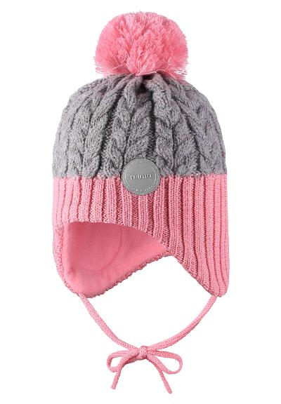 Toddlers' wool-mix beanie Pakkas Bubblegum pink