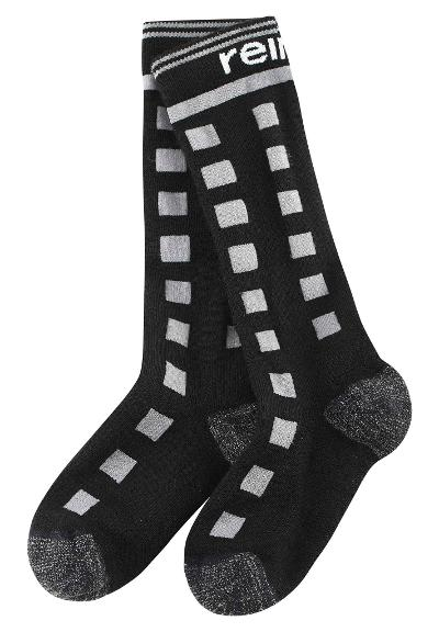 Kids' ski socks SkiDay Black