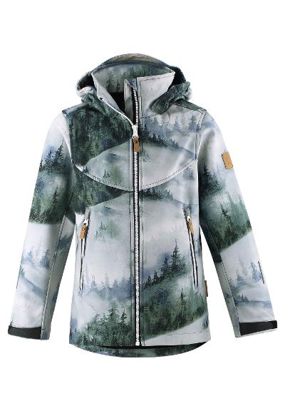 Kids' softshell jacket Vandra Greyish green