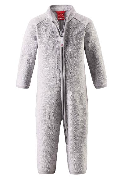 Toddlers' warm fleece overall Tahti Light melange grey