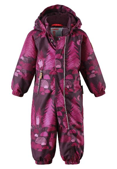 Toddlers' winter snowsuit Puhuri Deep purple