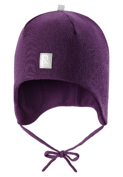 Toddlers' wool beanie Auva Deep violet