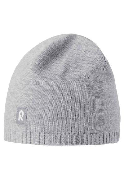 Kids' cotton beanie Haapa Melange grey