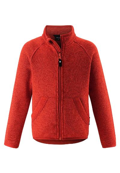 Kinder Fleecejacke Hopper Foxy orange