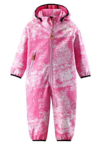 Toddlers' softshell jumpsuit Kotilo Rose pink