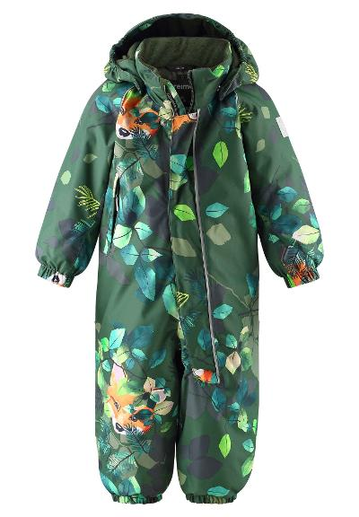 Toddlers' winter snowsuit Langnes Dark green