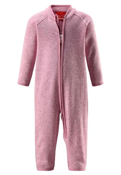 Toddlers' warm fleece overall Tahti Dusty rose