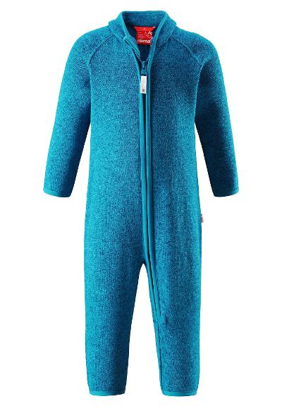 Toddlers' warm fleece overall Tahti Blue