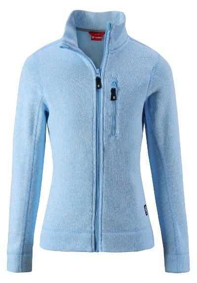 Barn fleecejacka Maaret Icy blue
