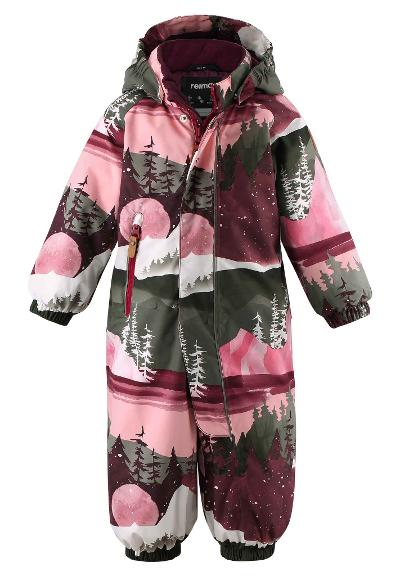 Toddlers' winter snowsuit Puhuri Lingonberry red