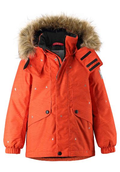 Kinder Winterjacke Skaidi reflektierend Orange