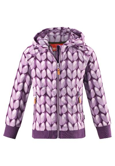 Kinder Fleecejacke  Myra Heather pink