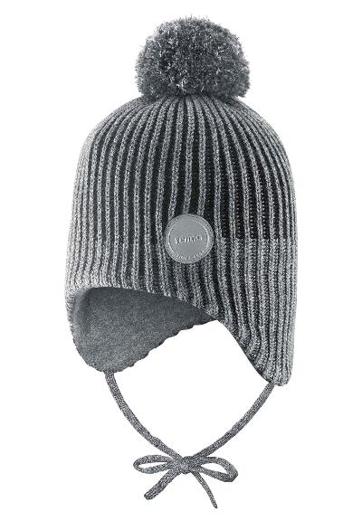 Toddlers' reflective wool-mix beanie Weft Black