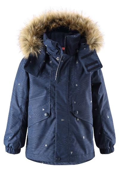 Kids' reflective winter jacket Skaidi Navy